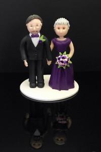 Brudpar i lila