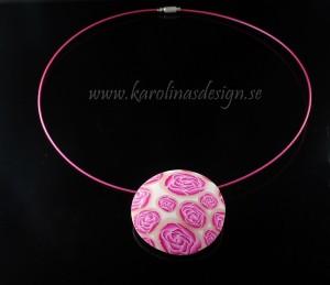 Halsband med rosor. Handgjort och unikt