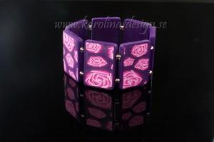 Armband med rosor. Handgjort från grunden.