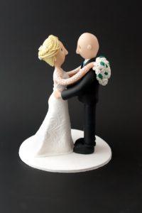 Brudpar till tårtan