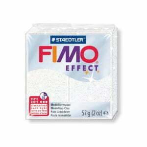052 White Glitter Fimo