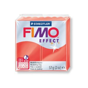 204 Red Translucent Fimo