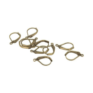 10 pcs Closed Earhooks Antiqued Gold