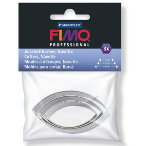 3 Eye-shaped cutters – Fimo