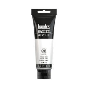 Titanium White 118 ml Akrylfärg Liquitex Basic